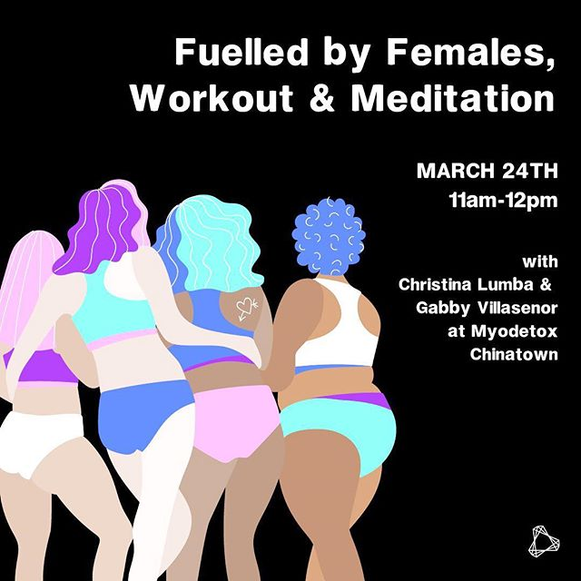 👯♀️// Oh wow, it's been over a month since I last posted something!...Last week, @_justfir gave me approx 4 mins notice to put a couple of graphics together (standard 😂) for the @myodetoxyvr women's month. Here's one of them - join them tomorrow, deets in their profile!