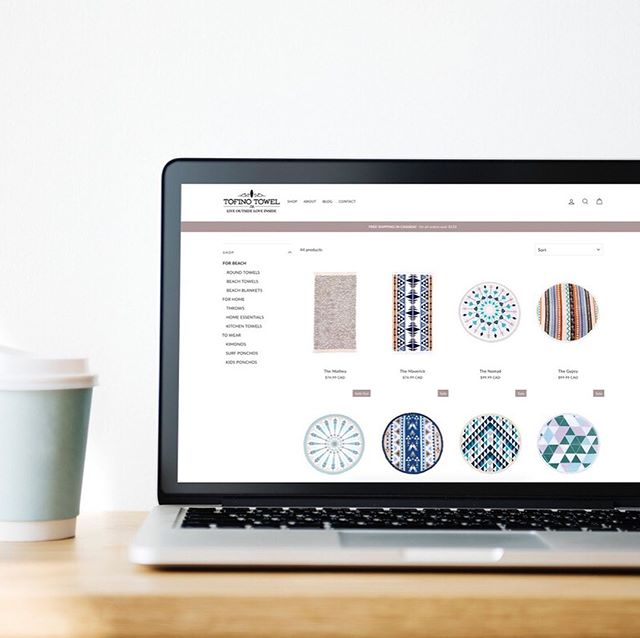 🏄‍♀️// Earlier this year @tofinotowelco contacted us about migrating their store from woocommerce to Shopify. They kind of knew what they were doing to do it themselves but just didn't have the time (they actually had a Shopify account already set up but hadn't ever got round to doing anything with it!). Plus, they were interested to get an audit on their site and see where we felt they could improve. • They have a pretty large catalogue so navigation/layout was a biggy • The product photography wasn't consistent so we tidied things up and made it cleaner on white backgrounds • The colour palette was a little erratic so we made it a little more transitional and earthy, just like the brand. • It was also important to highlight what makes them unique, for example, the 1% model: Giving back 1% of all profits to local non-profits! • Making the site more mobile friendly (this is always important!) Tofino Towel Co. are also one of our design clients, check out the Arrowsmith and Mackenzie! 😉