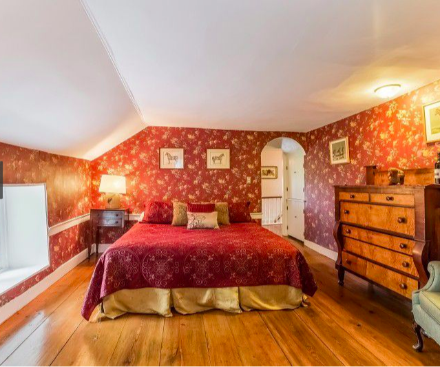Bedroom of our Red Suite