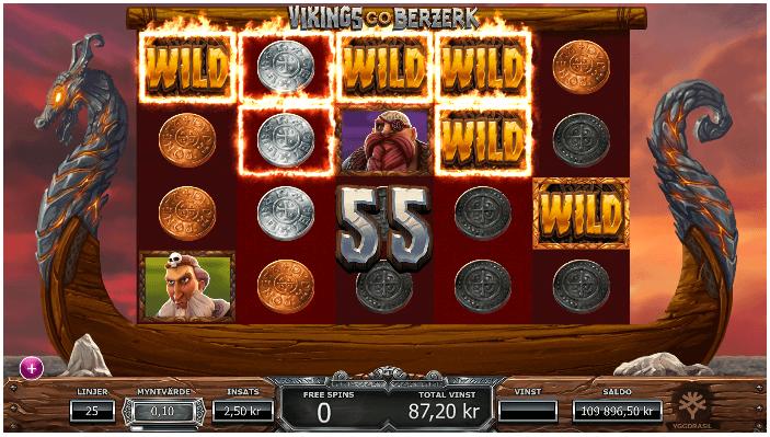 Här ser du sticky wilds efter avslutad bonusrunda