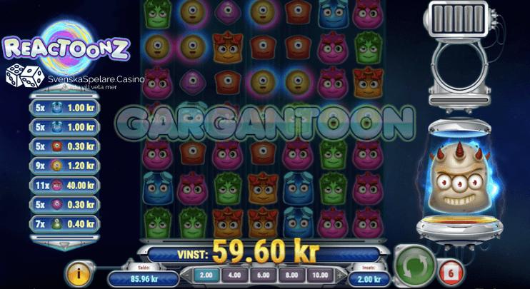 När du fyllt hela bonusmätaren så aktiveras Gargatoon