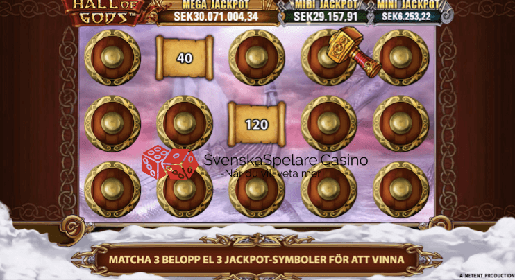 Bonusspelet där du ska hitta 3 symboler av samma värde