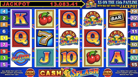 Cash splash som skapades och släpptes av spelleverantören Microgaming 1998 var världens första casino jackpot slot på nätet