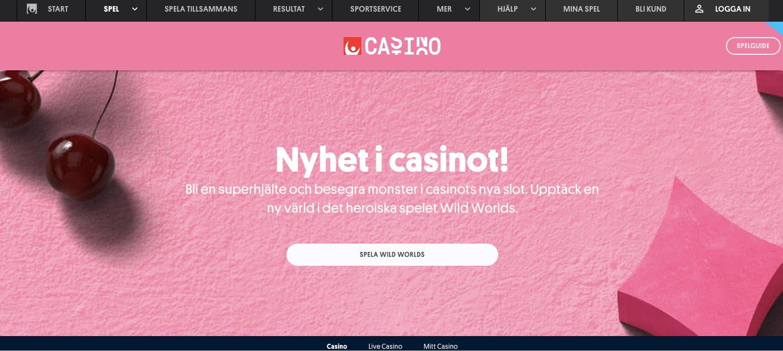 Svenska Spels nya nätcasino