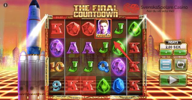 Wild symbolen i The Final Countdown