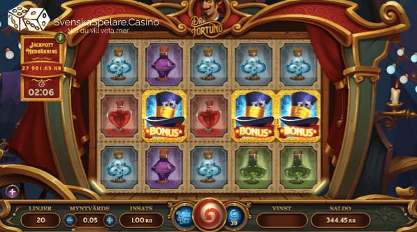Minst 3 bonussymboler startar freespinsrundan