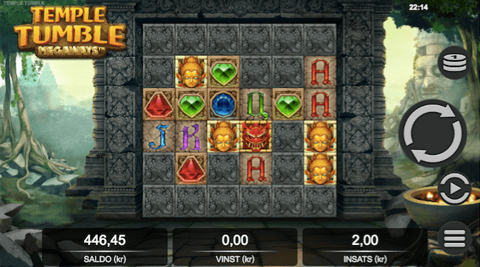 Temple Tumble spelrecension start 1.png