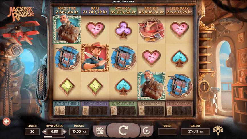 Jackpot Raiders casino recension Start 1.png