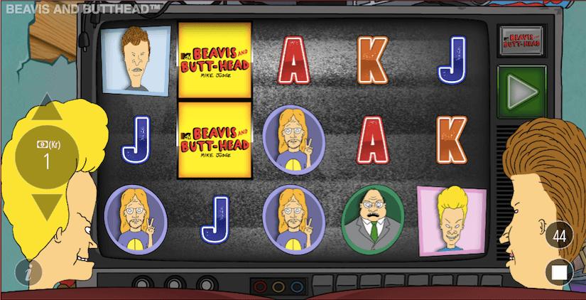 Start bild 1 Beavis and Butthead casino slot recension.png