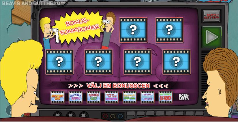 Här väljer du ditt bonusspel