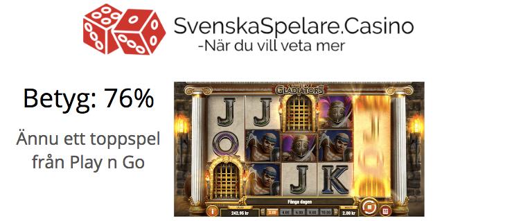 Betyg 76% Game of Gladiators från Play n Go.png