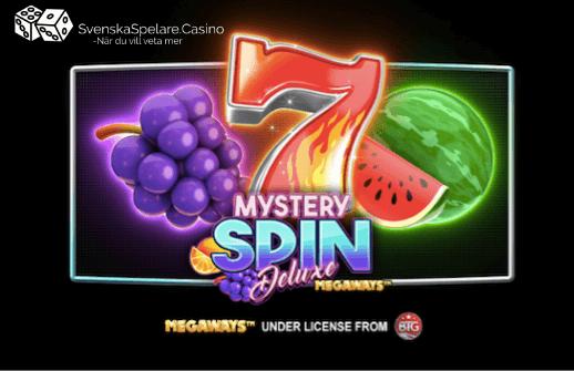 SvenskaSpelare recension Mystery Spin Deluxe Megaways casino slot.png