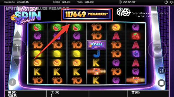 117649 Megaways exempel Mystery Spin Deluxe casino slot recension.png