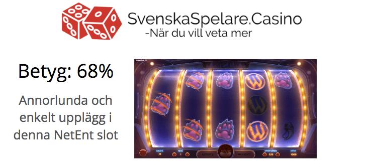 Betyg 68% Spinsane NetEnt Casino Slot.png