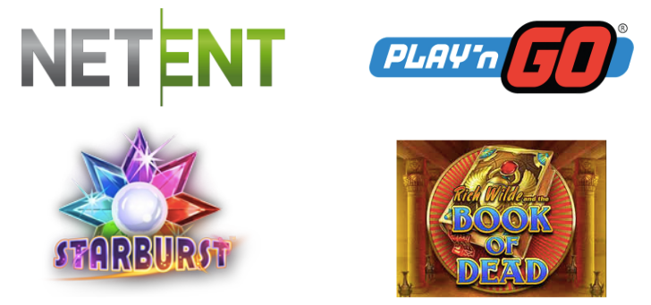 NetEnt Starburst & Play n Go Book of Dead.png