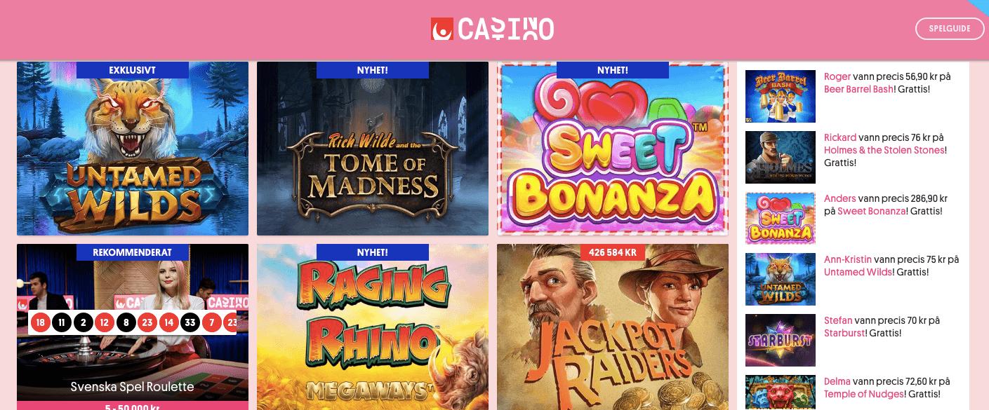 Svenska Spels nya hemsida för casino på nätet