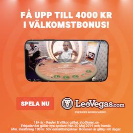 LeoVegas reklam live casino välkomsterbjudande.png