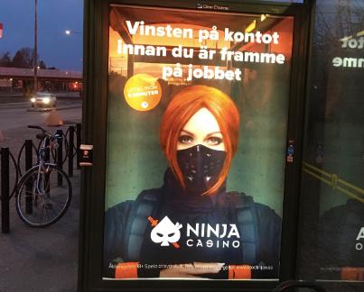 En tidigare utomhusannons från Ninja Casino