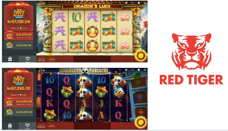 2 populära spel från Red Tiger - Dragons Luck & Esqueleto Mariachi