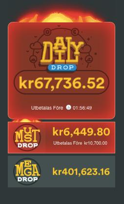 Red Tigers populära dagliga jackpots