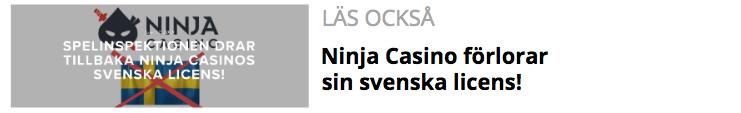 Ninja Casino förlorar sin svenska licens.png