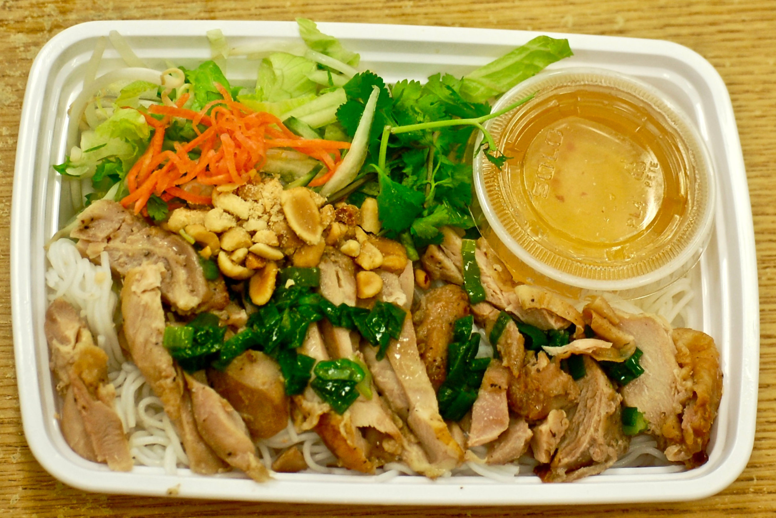 Grilled Chicken over Vermicelli Noodles