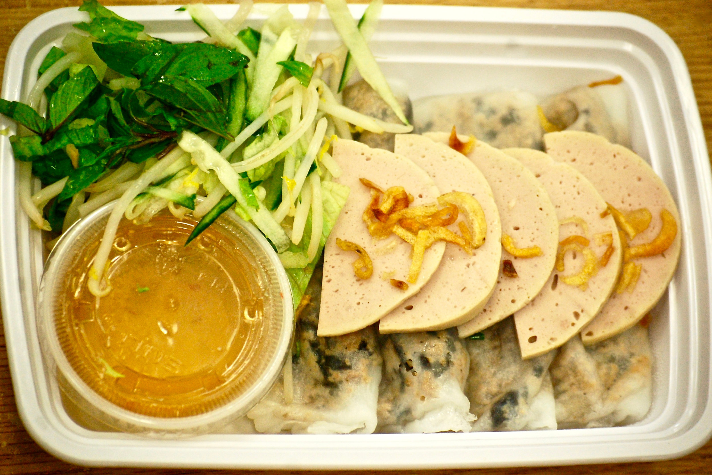 Pork and Spring Roll Lunchbox