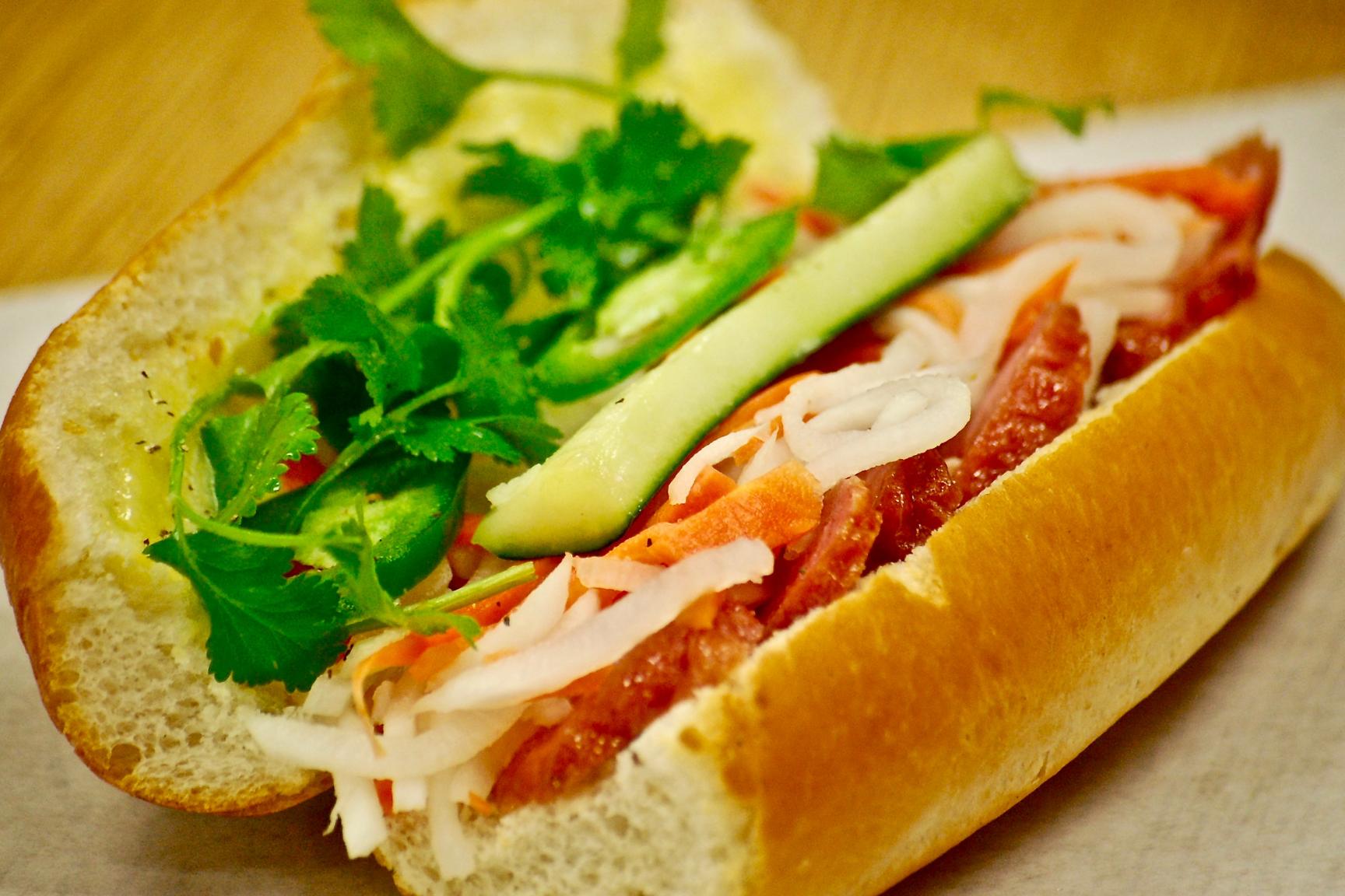BBQ Pork Sausage Bánh Mì