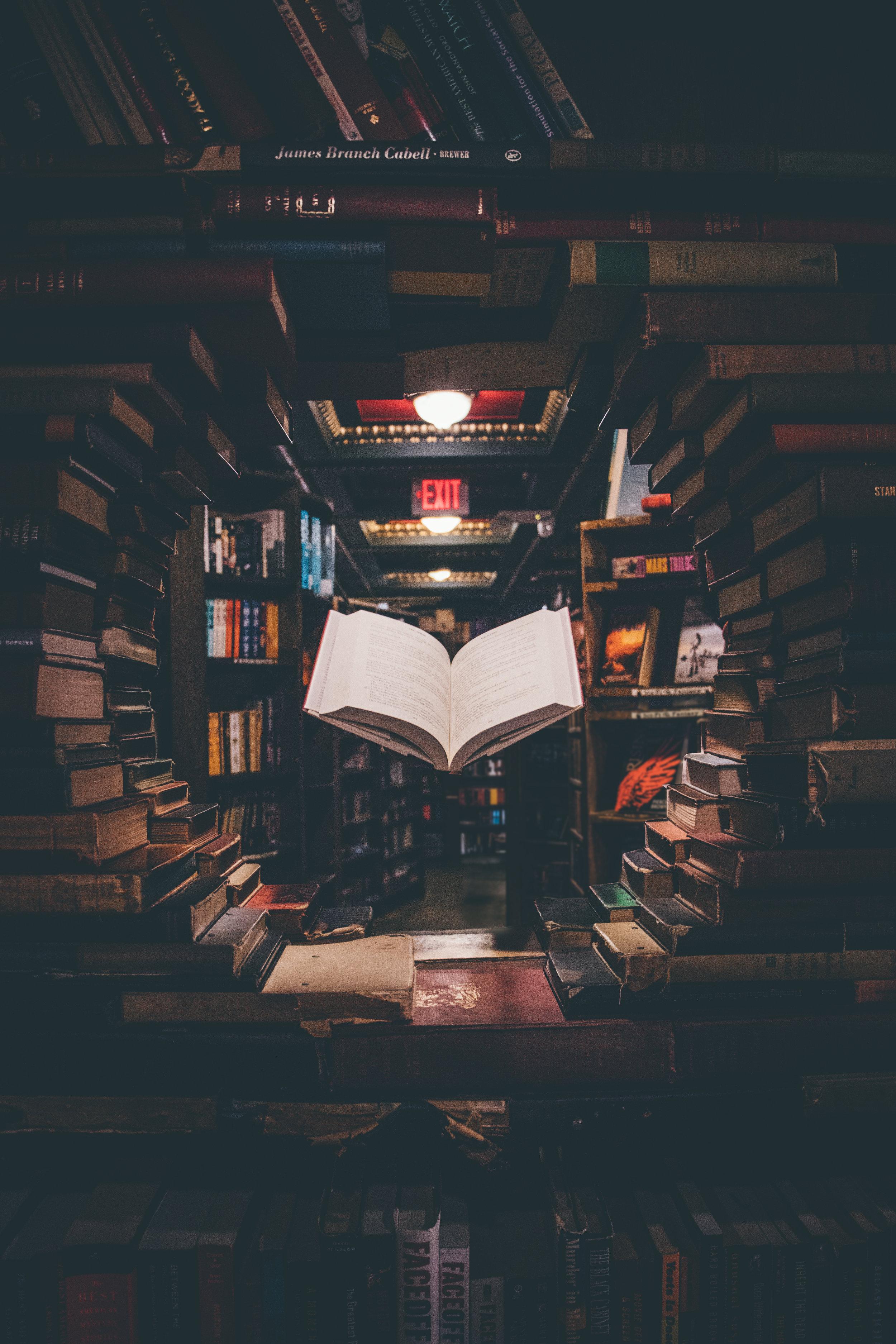 Spooky ghost reading a book! Ahhhhhh!