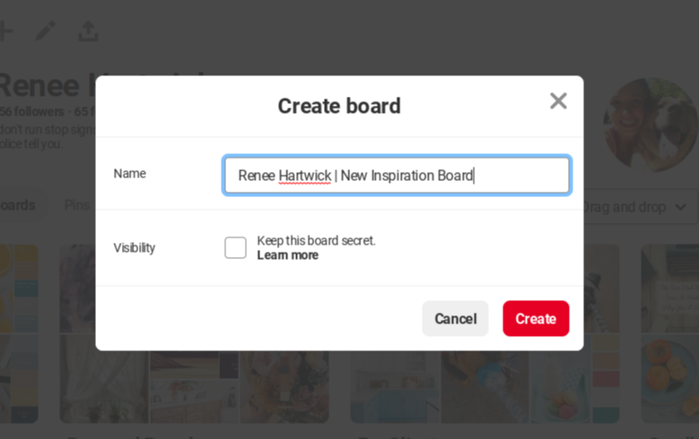 Step Two: Name Your Board