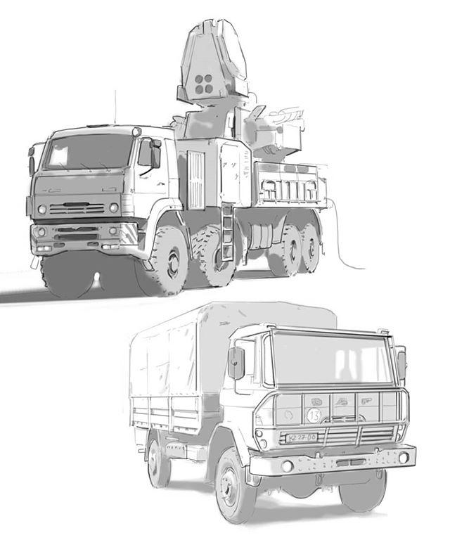 Truck studies!  #hardsurface #drawing #vehicle