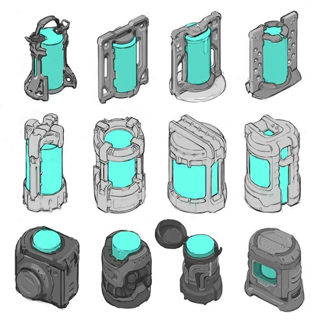 Cylinders need to get around  #hardsurface #design #artistsoninstagram #scifi #drawing #digitalart #conceptart #propdesign #art #gameart