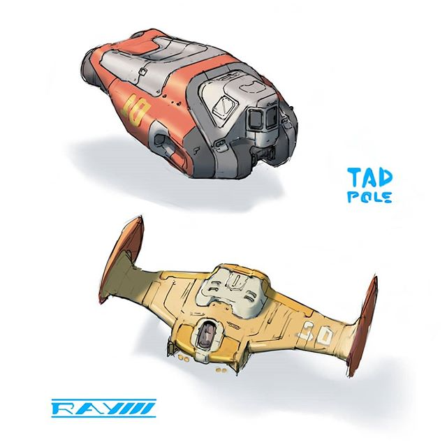 Some hardsurface sketches!  #scifi #scifiart #hardsurface #artistsoninstagram #digitalart #conceptart #vehicle #design #spaceship #conceptdesign