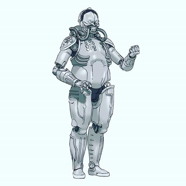 "Mad Max (2015) Metropolis (1927) mash-up sketch of ""Maschinen-Joe""  #madmaxfuryroad #immortanjoe #metropolis #marchofrobots2019 #hardsurface #marchofrobots #artistsoninstagram #conceptart"
