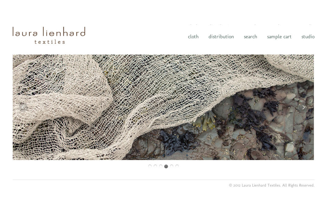 Laura Lienhard built a fabric company based on her elegant and timeless style. We created an online store for her business, designed an e-newsletter, and wrote content to promote her brand.