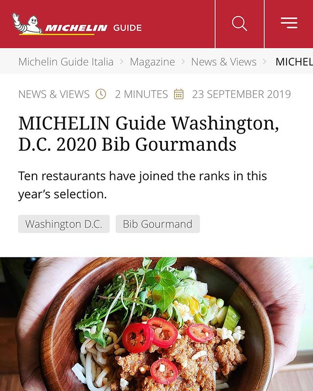 Whoa. 😮 check the link in our bio! We made the #michelinguide thank you very much to all of the amazing people who support our little rum shop! 🚗 🚗 🚗 🚗 #bibgormand  #michelin  #michelinrestaurants  #eater  #eaterdc  #washingtondcfood  #washingtonpostfood  #washingtonpost  #washingtonian