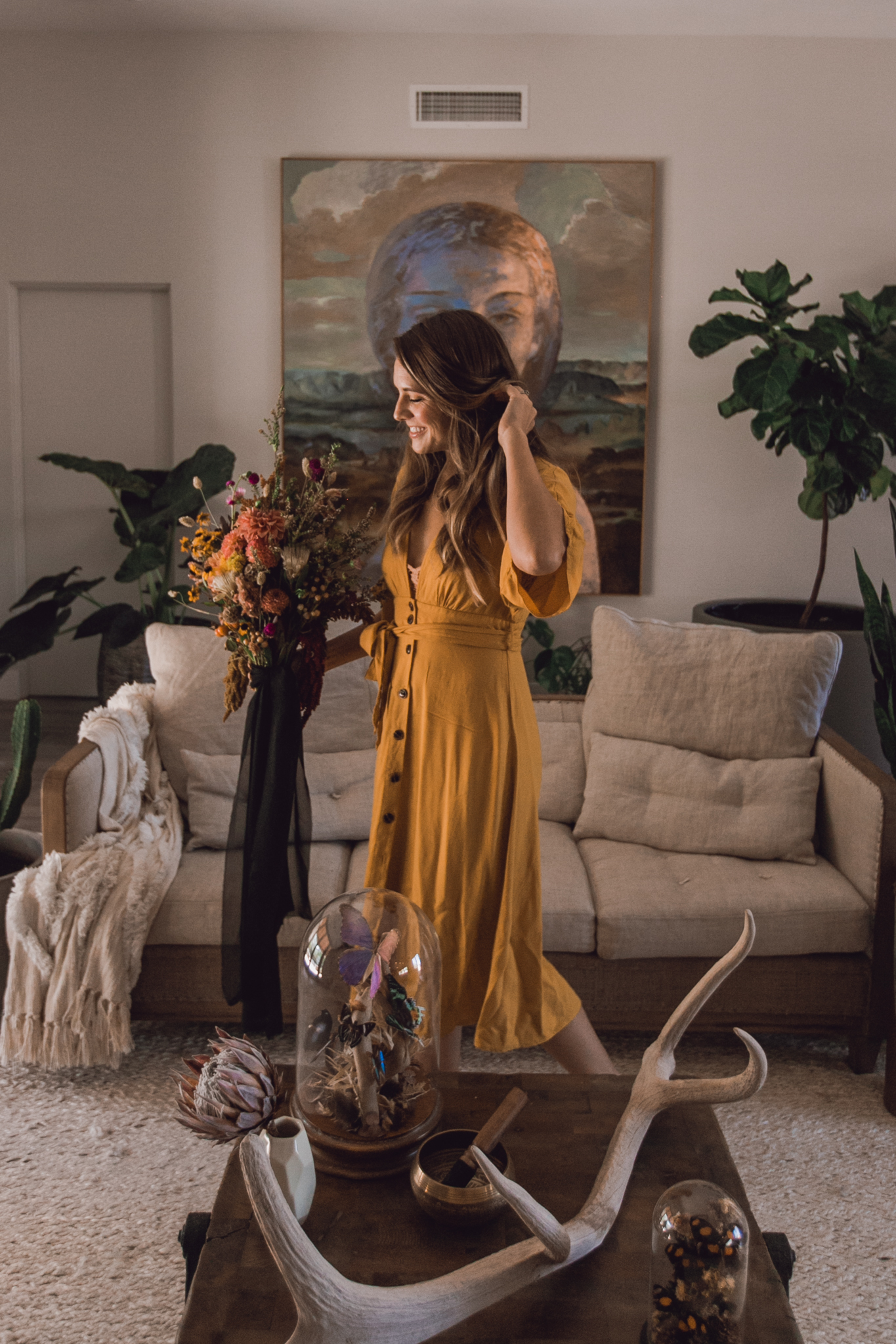 forever-21-yellow-dress-the-botanical-studios-raven-hill-floral-instalations
