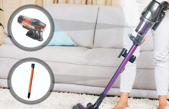 HURRICANE - 99,90€ - Aspirateur sans fil à tête rotative ultra puissant