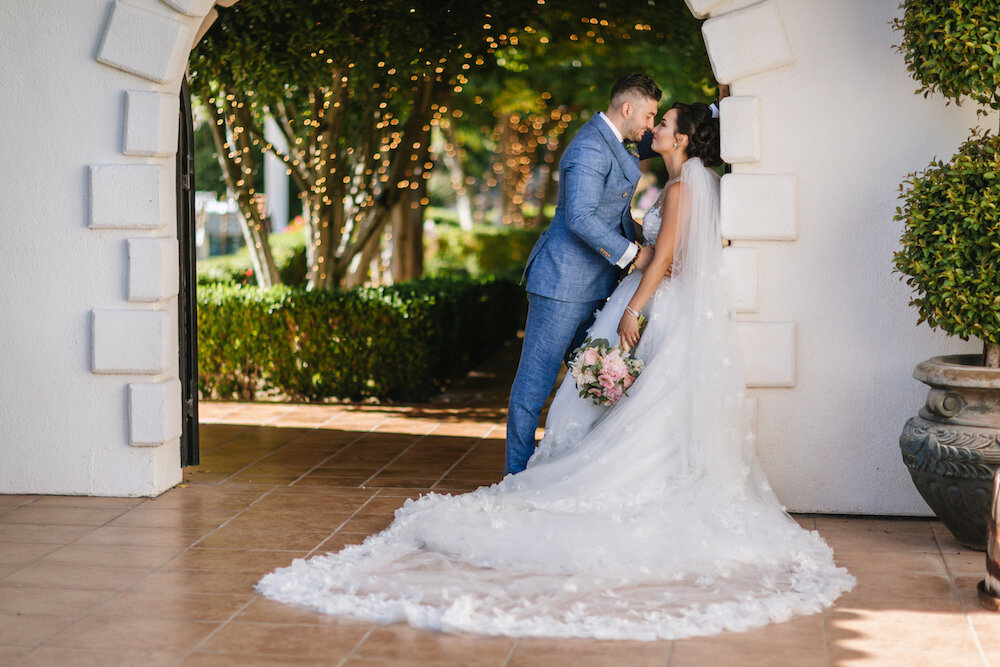 Alexxis Wedding featuring a Randy Fenoli Wedding Dress