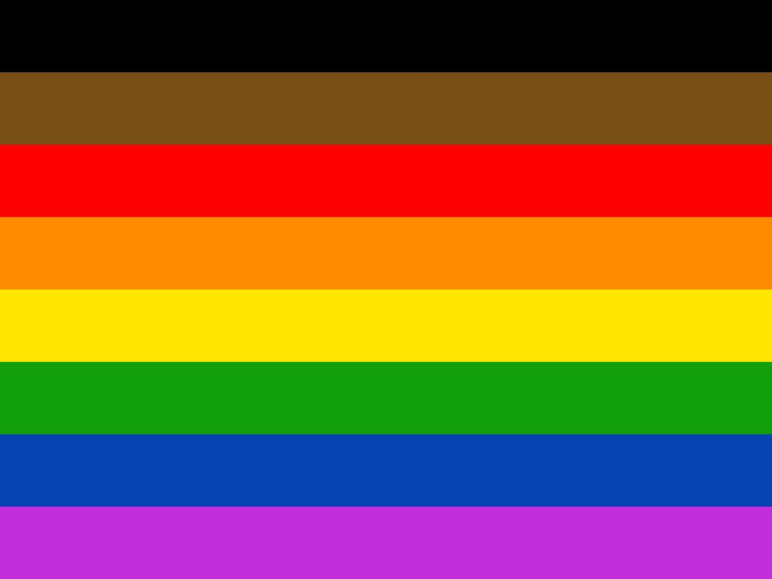 Philadelphia Pride Flag, by Tierney Design