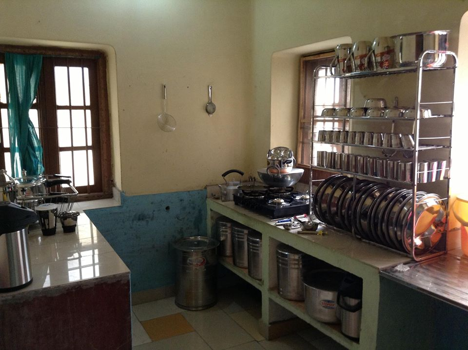 Fully stocked kitchen - Our goal is to make the girls stay at the safe home to be comfortable and well stocked. This is the kitchen we set up in India to serve the girls. We are pursing 10 new safe homes help stock a kitchen today.