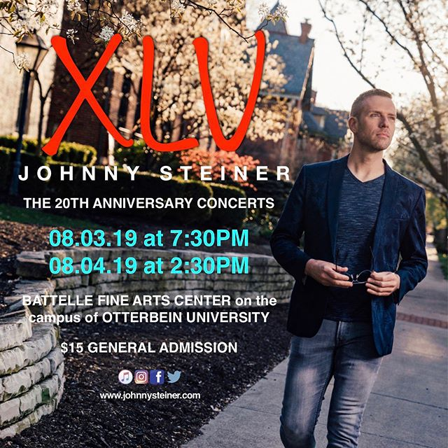 TONIGHT! TONIGHT! TONIGHT! •  Johnny Steiner in concert: XLV 🎶 08.03.19 and 08.04.19 🎶 www.johnnysteiner.com for details •  #johnnysteinerinconcert  #xlv #expressmen #germanvillage #fashion #instastyle #mensstyle #styleformen #stylegame #styleinspiration #summerstyle #gay #gayman #gayguy #gaysinger #gaystyle #stylegay #instagay #singer #musiciansofinstagram #instagood •  @mk.schmitter 📸 @otterbeinu @otterbeinalumni @expressmen @baker_jock
