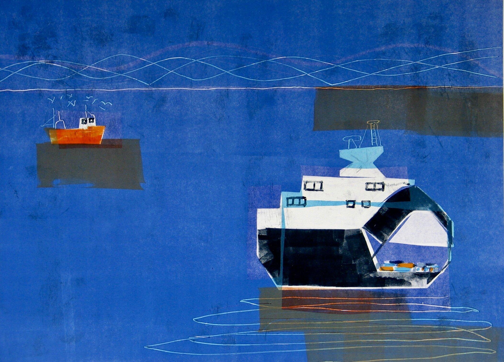 På heimveg (Going home)  2010, monotype