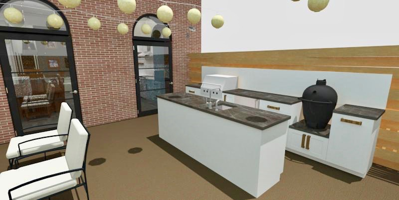 Outdoor Kitchen Render w/Ray Trace