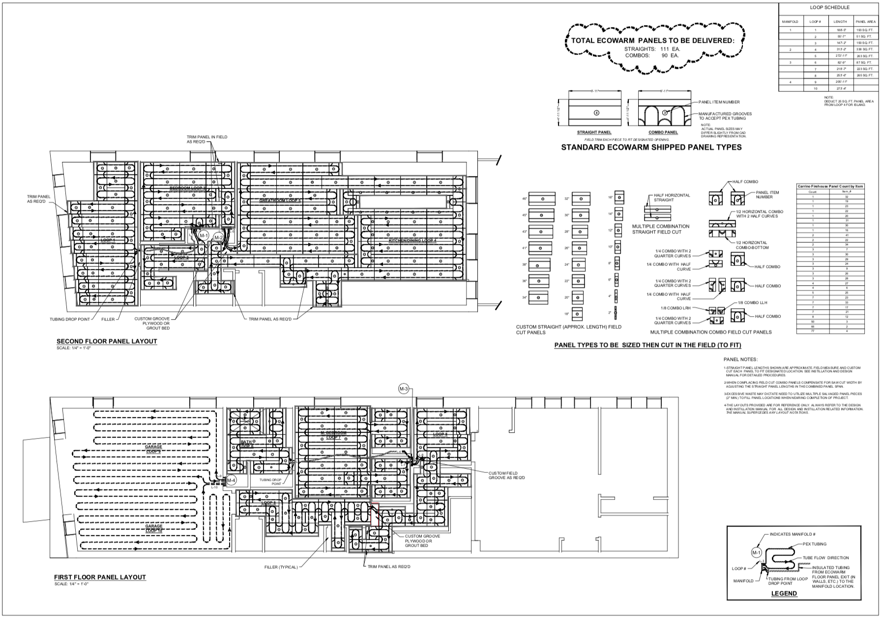 Ecowarm Layout for the Firehouse - click to enlarge