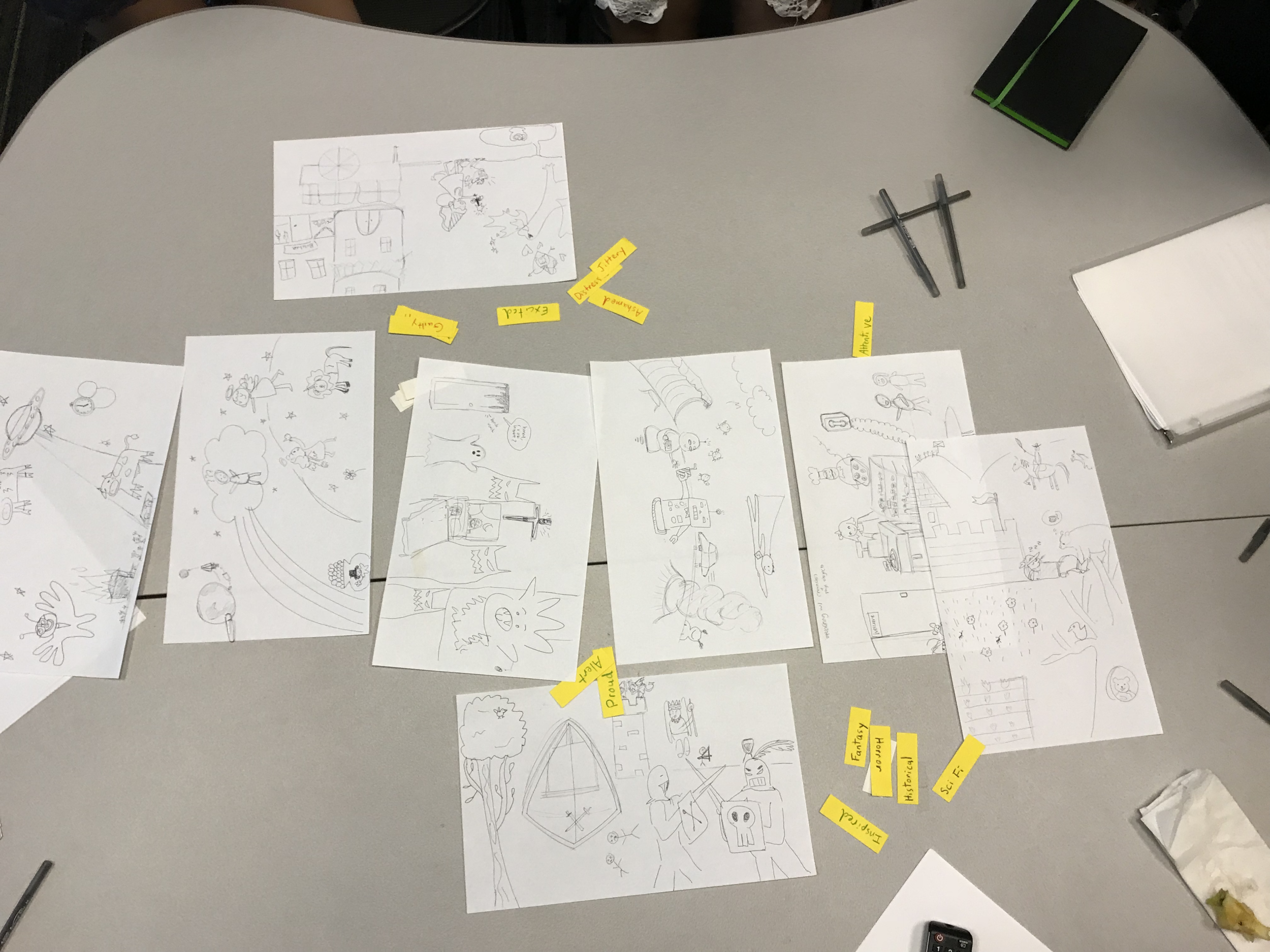 Emotion & Collaborative Illustration, created by several students in the independent study