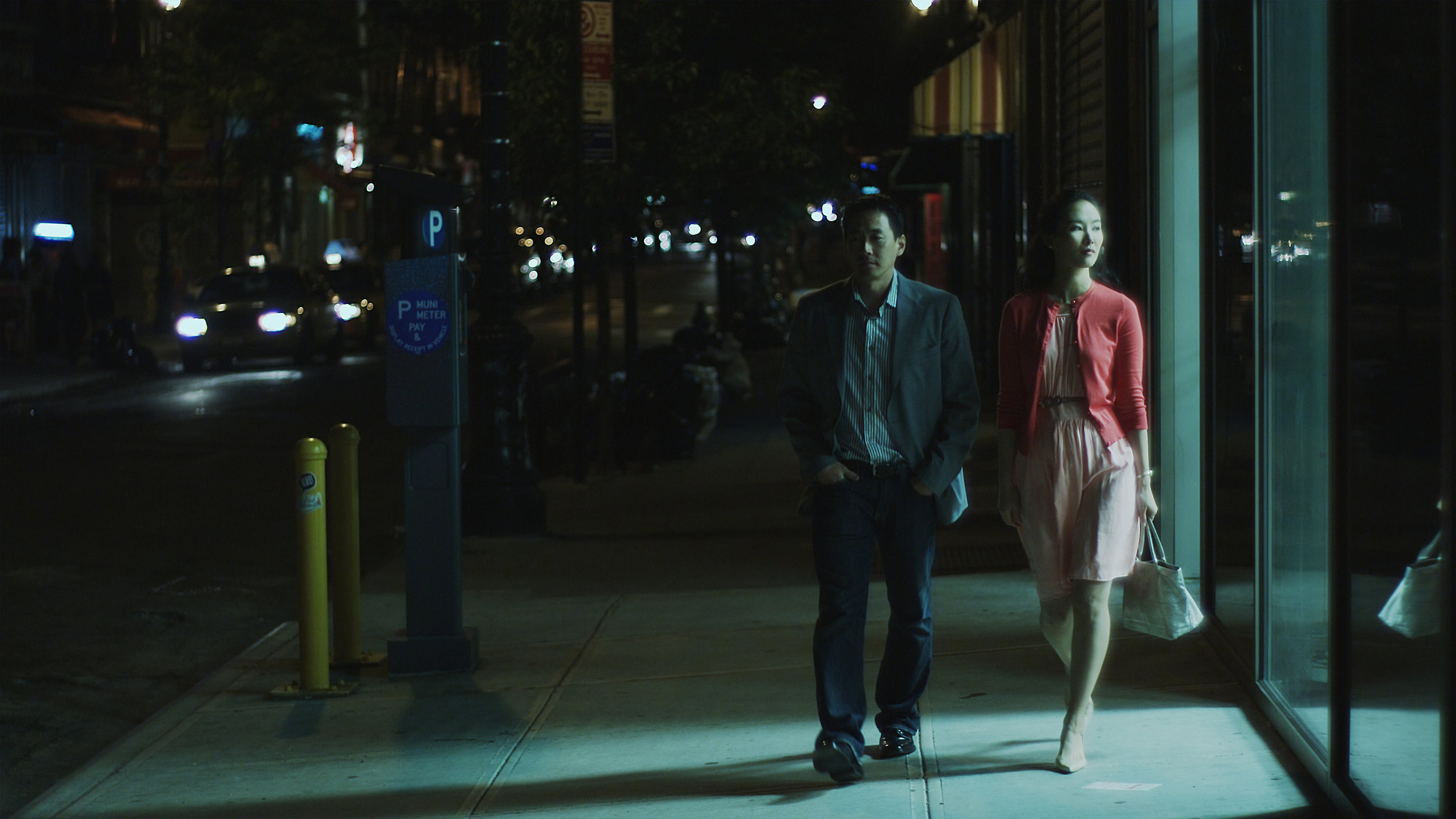 Paul Juhn and Sara Kim in Works of Art; Written by Paul Juhn; Cinematographer - Ramsey Fendall; Director - Andrew Pang