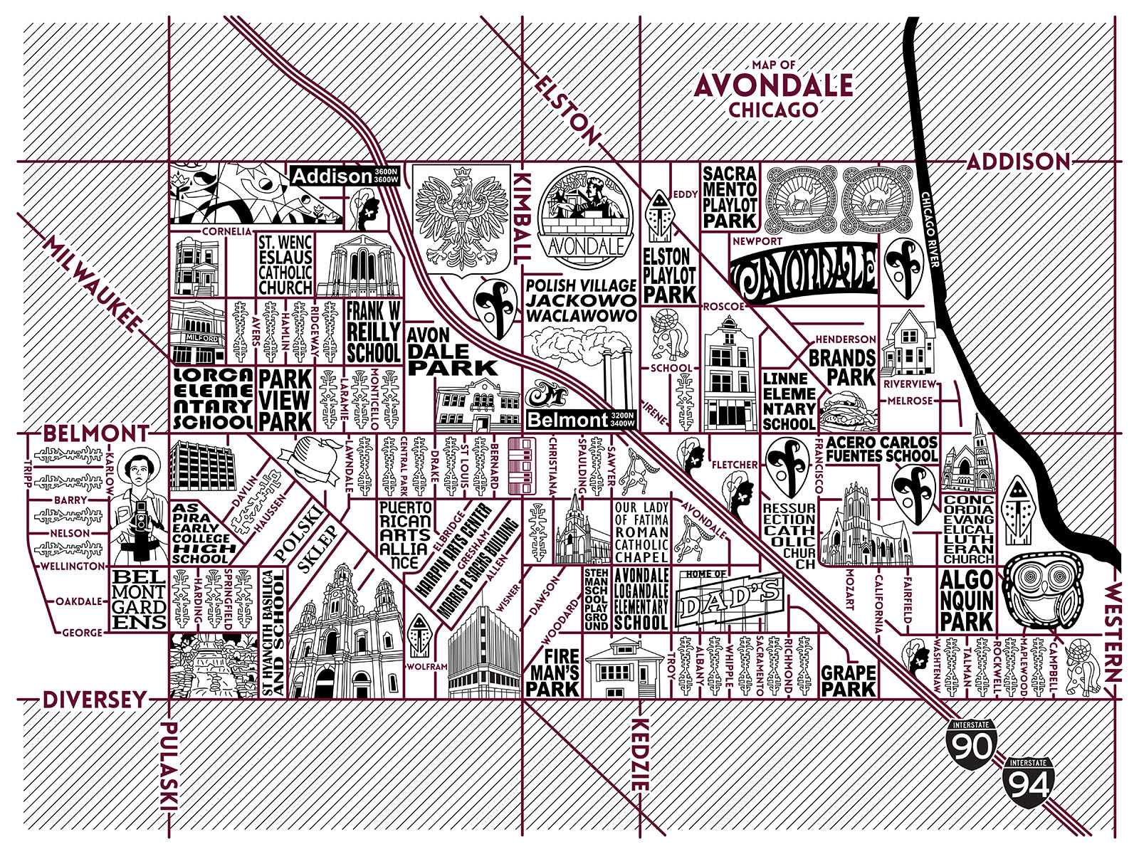 Avondale Map -  Purchase a map here