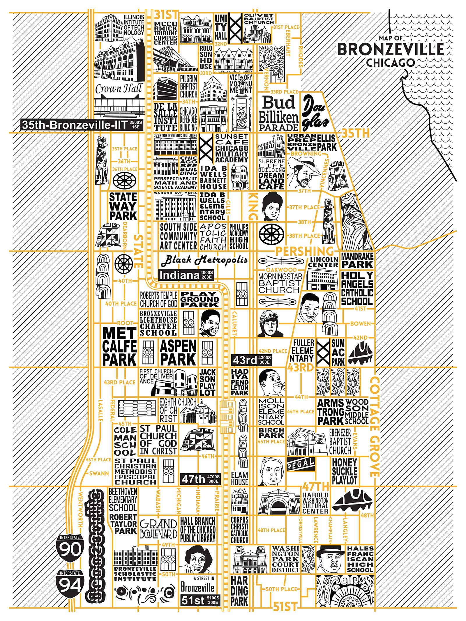 Bronzeville Map -  Purchase a map here