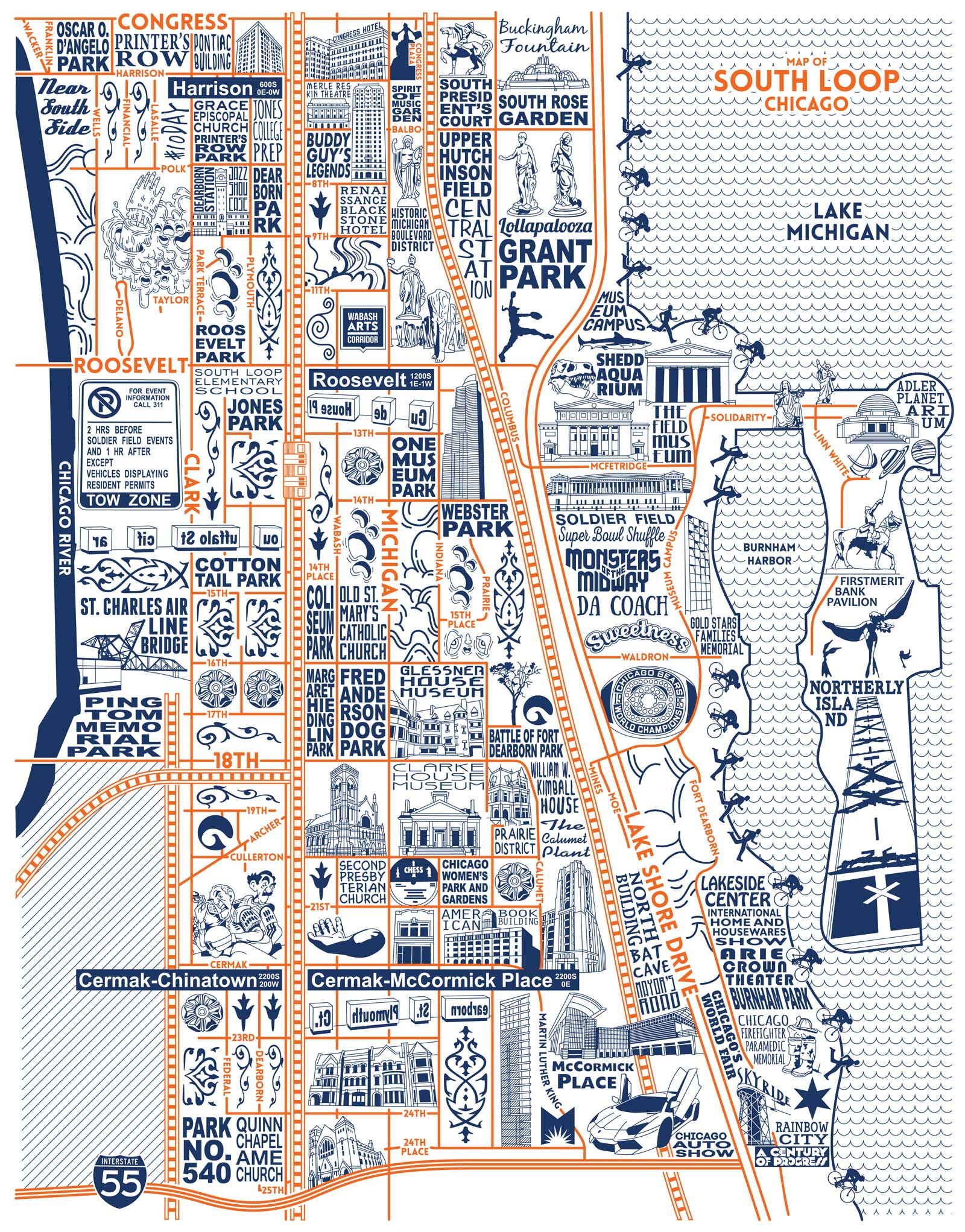 South Loop Map -  Purchase a map here